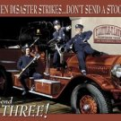 Three Stooges Fire Truck Tin Sign #1081