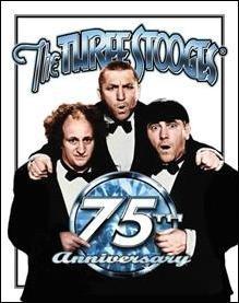 Three Stooges 75th Anniversary Tin Sign #1065