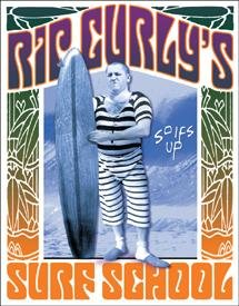 Three Stooges Surf School Tin Sign #1196