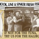 Three Stooges Fish Market Tin Sign #664