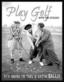 Three Stooges Golf Balls Tin Sign #951