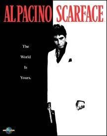 Al Pacino Scarface Movie Tin Sign #1338