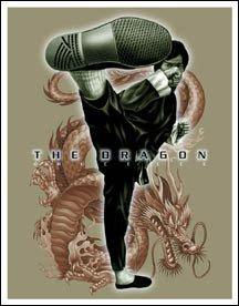 Bruce Lee Movie High Kick Tin Sign #1342