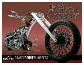 OCC Orange County Choppers Motorcycle Tin Sign #1456