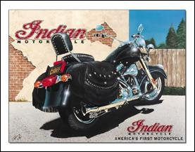 Indian Chief Shop Motorcycle Tin Sign #1085