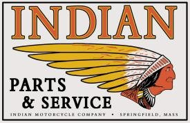 Indian Parts And Service Motorcycle Tin Sign #583