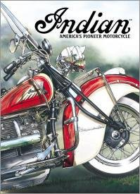 Indian America's Pioneer Motorcycle Tin Sign #785