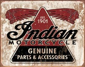 Indian Motorcycle Parts Tin Sign #1469