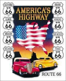 Route 66 America's Highway Tin Sign #605