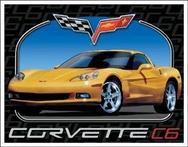 C6 Chevy Corvette Tin Sign #1248