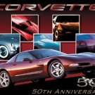 50th Anniversary Chevy Corvette Tin Sign #1015