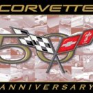 50th Anniversary Logo Chevy Corvette Tin Sign #1014