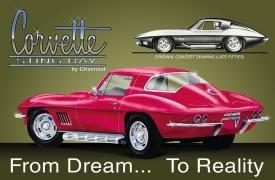 Stingray Chevy Corvette Tin Sign #694