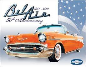 General Motors Chevy Bel Air Car Tin Sign #1395