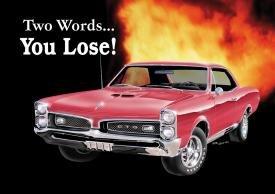 General Motors Pontiac GTO Car Tin Sign #767