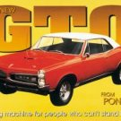 General Motors Pontiac GTO Car Tin Sign #495