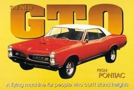 General Motors Pontiac GTO Car Tin Sign #495