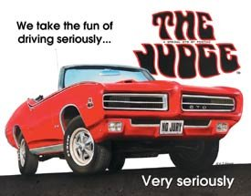 General Motors Pontiac GTO Car Tin Sign #1430