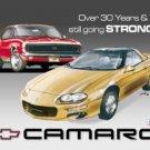 General Motors Chevy Camaro Car Tin Sign #807