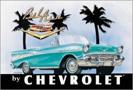 General Motors Chevy Bel Air Car Tin Sign #700