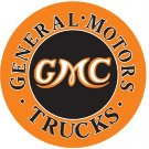 General Motors GMC Trucks Round Tin Sign #1012