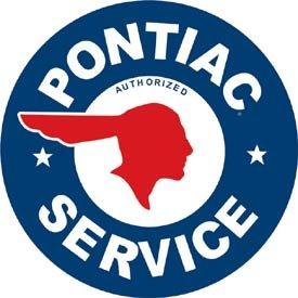 General Motors Pontiac Service Round Tin Sign #184