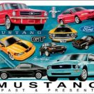 Ford Mustang Chronology Car Tin Sign #1272