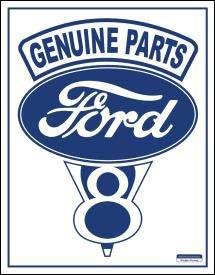 Ford Car Parts Tin Sign #787