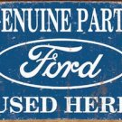 Ford Car Parts Tin Sign #1422