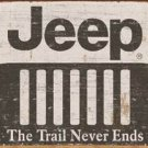 Jeep Logo Weathered Tin Sign #1431