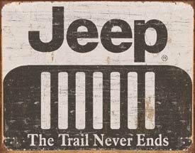 Jeep Logo Weathered Tin Sign #1431