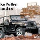 Jeep Like Father Like Son Tin Sign #1236