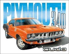 Plymouth Cuda Car Tin Sign #1415