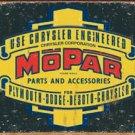 Mopar Parts Car Tin Sign #1314