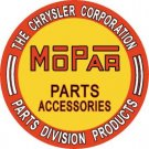 Mopar Parts Round Tin Sign #613