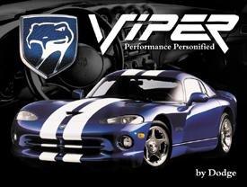 Dodge Viper Car Tin Sign #910