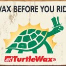 Turtle Wax Car Wax Tin Sign #1387