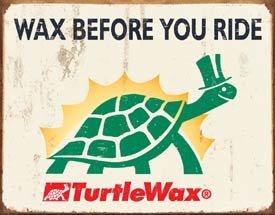 Turtle Wax Car Wax Tin Sign #1387