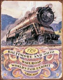 Baltimore And Ohio Train Tin Sign #1447