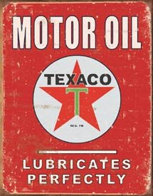 Texaco Motor Oil Tin Sign #1444