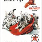 Texaco Gasoline Fire Chief DalmationTin Sign #827