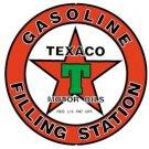 Texaco Gasoline Round Tin Sign #205