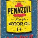 Pennzoil Motor Oil Tin Sign #1385