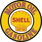 Shell Motor Oil Gasoline Round Tin Sign #830