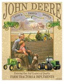 John Deere Tractor Tin Sign #985