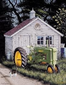 John Deere Tractor Tin Sign #1121