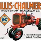 Allis Chalmers Tractor Tin Sign #1133