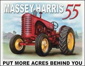 Massey Harris Tractor Tin Sign #1168