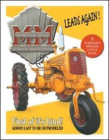 Minneapolis Moline Tractor Tin Sign #1130