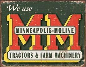 Minneapolis Moline Tractor Tin Sign #1505